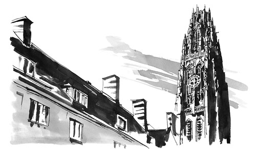 Harkness Tower illustration